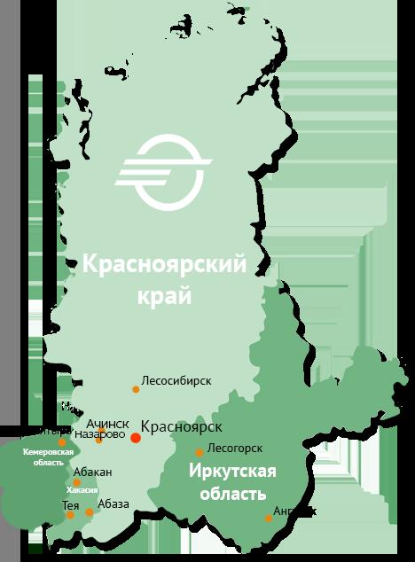 Карта присутсвия